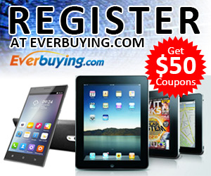 Great News! Register at Everbuying, Get $50 Coupons for Your Savings!