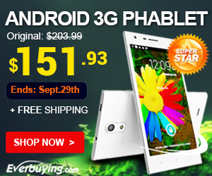Super Star! Save Up to $52 + Free Shipping for the Android 3G Phablet at Everbuying! (Ends: Sept.29th)