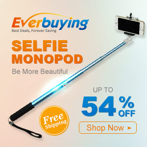 Selfie monopod! Make you more beautiful! Enjoy up to 54% OFF for all selfie monopod at Everbuying! Shop now!