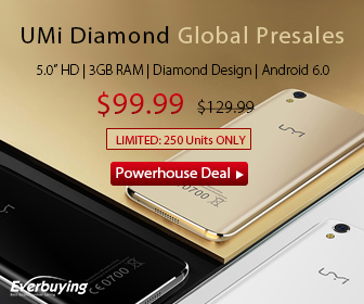 UMI Diamond Global Presale: $99.99 for First 250 Units Only @Everbuying