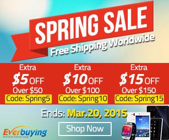EverBuying: Весенняя распродажа на Everbuying - купоны на скидки!