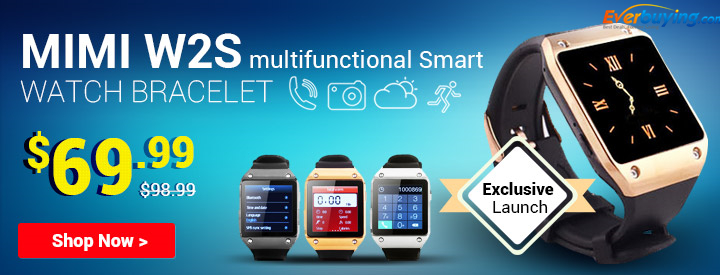 Exclusive Launch! Up to 32% OFF + Free Shipping for the Mi-W2 Multifunctional Smart Watch Bracelet!