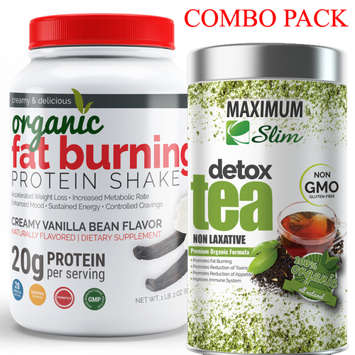 combo pack detox tea & Fat burning protein shake