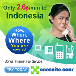 Only 4.5¢/min to Indonesia