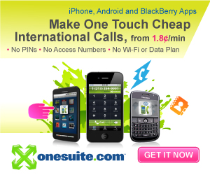 iPhone, Android and BlackBerry Apps to Make Cheap International Calls with One Touch