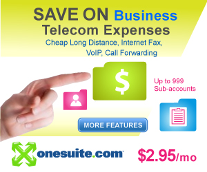 Save on Business Telecom Expenses - Cheap Long Distance, Internet Fax, VoIP, Call Forwarding - Up to 999 Sub-accounts