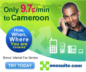 Call Cameroon at 9.7¢/min