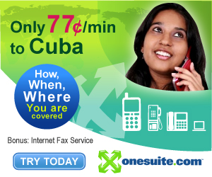 Call Cuba at 77¢/min