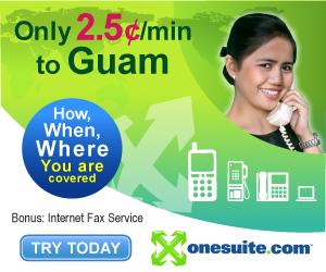 Call Guam at 2.5¢/min
