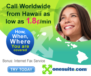 Call worldwide from Hawaii as low as 1.8¢/min