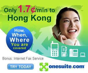 Call Hong Kong at 2¢/min