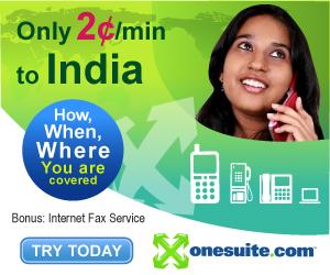 Call India at 2¢/min