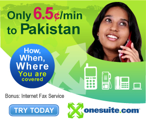 Call Pakistan at 6.5¢/min