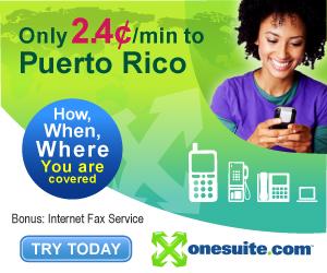 Call Puerto Rico at 2.4¢/min