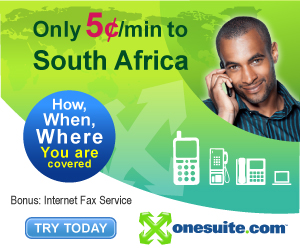 Call South Africa at 5¢/min