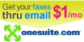 Send and receive faxes thru email with OneSuite Fax