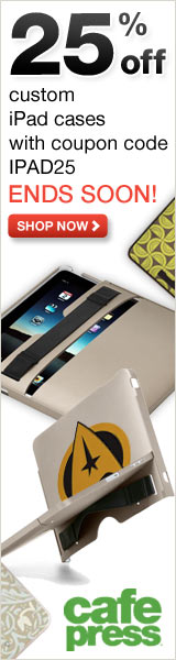 25% off iPad Cases at CafePress - coupon code: IPAD25