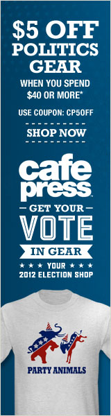 Save $5 on Political Gear at CafePress on orders $40 or more! Coupon Code: CP5Off