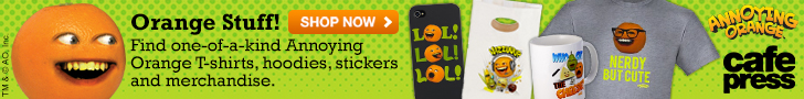 Find one-of-a-kind Annoying Orange T-shirts, hoodies, stickers and merchandise.