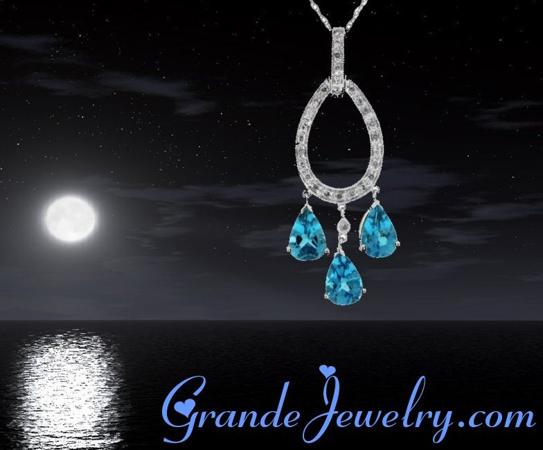 Grande Jewelry Blue Topaz Earring