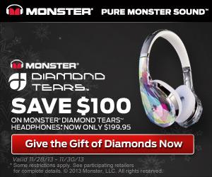 Save $100 On Monster Diamond Tears Headphones