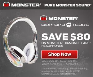 Save $80 On Monster Diamond Tears Headphones