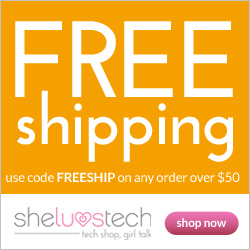 Free Shipping On Orders Over $50 At SheLuvsTech, Code FREESHIP