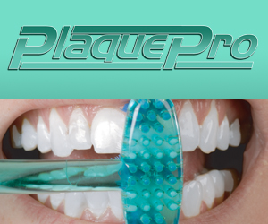 As Seen At TV Presents: PlaquePro - $2.95  - In a lifetime, the average American spends a total of 38.5 days brushing their teeth. Stop wasting so much time by using the PlaquePro�. According to the inventor, the PlaquePro can reduce a person's daily brushing time by 10 to 20 percent.  The PlaquePro is a toothbrush with a unique perpendicular head that can simultaneously brush the upper and lower sets of teeth. The toothbrush�s novel design also allows it to reach areas where conventional toothbrushes cannot reach � such as behind molars. Easy to use for children and adults, the PlaquePro contains soft bristles to prevent cutting or injuring gums, and includes a sanitary travel case for easy storage.. Available here on http://www.AsSeenAtTV.com!
