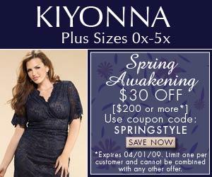 Kiyonna.com Coupon: Save 25$ Off on Plus Size Clothings Good till 2008-12-31