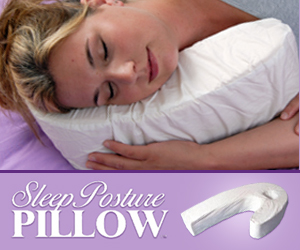 As Seen At TV Presents: SleepPosture Pillow - $59.95  - Sleep apnea, snoring, fatigue, neck and back pain, bed soreness � all of these may be symptoms of poor sleep posture. Luckily, now there's a way to train your body to sleep in the ideal position for a rejuvenating full night's rest. Rather than allowing you to roll onto your back or stomach (which can cause a twisting of the spine and back strain), the SleepPosture Pillow encourages side sleeping � the most natural and healthy position for your body.  The SleepPosture Pillow is uniquely shaped to support the head, neck, back and jaw in the proper alignment. A small space on the pillow comfortably accommodates a person's ear and prevents painful