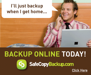 Rather than wait, backup online TODAY with SafeCopy.