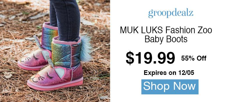 MUK LUKS Fashion Zoo Baby Boots