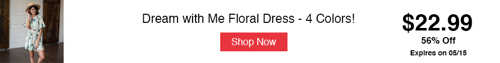 Dream with Me Floral Dress - 4 Colors!