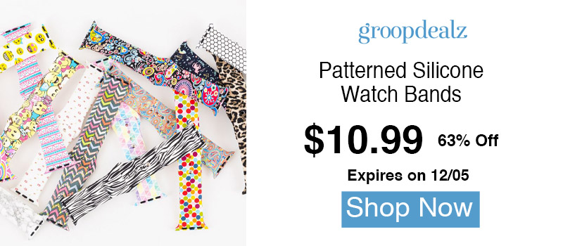 Patterned Silicone Watch Bands