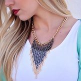fringe metal necklace image