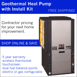 Geothermal Heat Pump with Install Kit