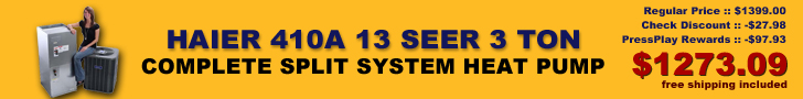 Haier 13 SEER 3 Ton Complete Split System