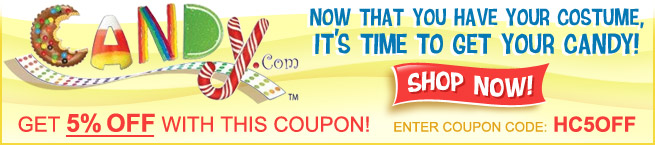 Now Save 5% On All Halloween Candy at Candy.com! Use Code: HC5OFF! Click Here!
