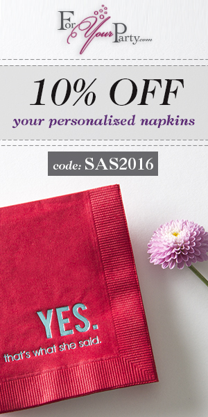 10% Off Wedding Napkins Use Code SAS2016