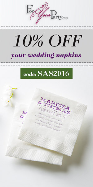 10% Off Wedding Napkins Use Code SAS2015