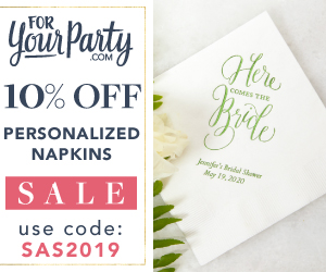 10% OFF Personalized Napkins