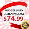 BUDGET LOGO DESIGN PACKAGE, $74.99