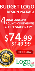 BUDGET LOGO DESIGN PACKAGE,4 LOGO CONCEPTS,4 ROUNDS OF REVISIONS,FREE STATIONARY,&74.99