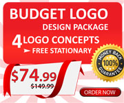 BUDGET LOGO DESIGN PACKAGE,4 LOGO CONCEPTS,FREE STATIONARY,&74.99