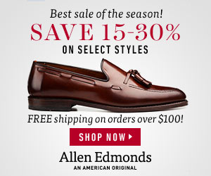 Allen Edmonds Anniversary Sale