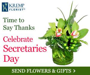 Celebrate Secretaries Day - Send Flowers & Gifts