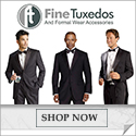 Complete Tuxedo Packages Starting at just $129.95 at FineTuxedos.com.