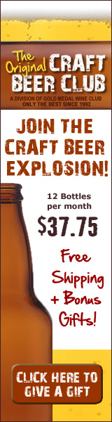 CraftBeerClub.com-America's Best Micro Brew Beers Delivered Monthly - 160x600 banner