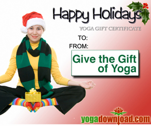 Give the gift of yoga with a YogaDownload gift certificate