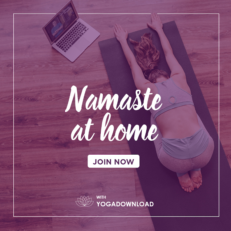 Online Yoga at home - Namaste at home - Yogadownload